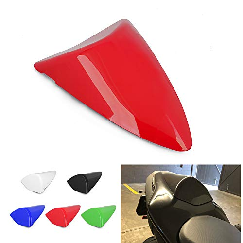 AnXin Motorcycle Red Rear Seat Cowl Passenger Pillion Fairing Tail Cover For Kawasaki ZX6R 2007 2008