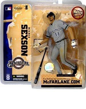 McFarlane Toys MLB Sports Picks Series 8 Action Figure Richie Sexson (Milwaukee Brewers) Retro Brewers Jersey Variant