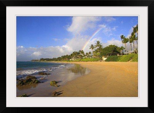 GreatBIGCanvas ''Hawaii, Maui, Kihei, Keawakapu Beach'' by Ron Dahlquist Photographic Print with Black Frame, 30'' x 20'' by greatBIGcanvas