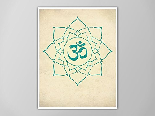 Amazon.com: Om Lotus Print, Lotus Art Print, Yoga Decor, Aum ...
