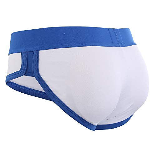 951358b85 Men s Butt and Front Enhancing Padded Hip Briefs Underwear Solid Color  Cotton Spandex White