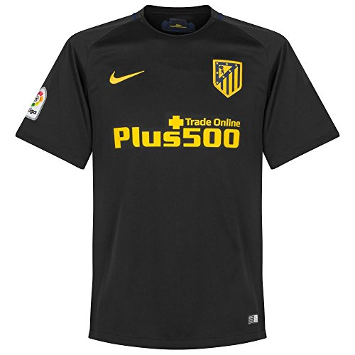 Nike Mens 16/17 Atletico Madrid Away Jersey X-Large (Black/Gold)