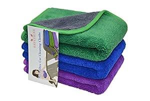 Hope shine toalla de toallas de microfibra coche paños de limpieza de pulido cera polaco de grosor para lavar el coche auto Detailing: Amazon.es: Coche y ...