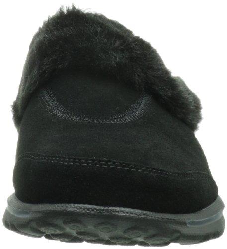 Skechers Go Walk Cozy, Sandales de marche femme - Noir (Black), 35 EU