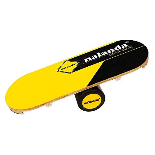 NALANDA Balance Board, Wooden Balance Trianier for Fitness, Yoga, Training, 33'' x 12.2