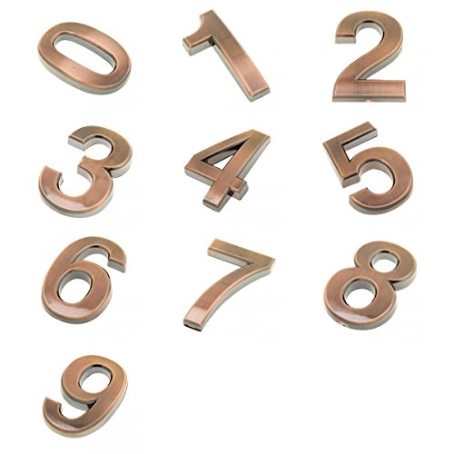MagiDeal 10 Pieces Door Number Room Plate Home Office Address Number 0--9 Hotel Signs