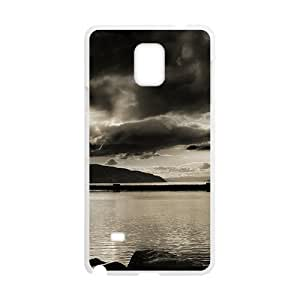 Black Clouds Sky And Mountains White Phone For SamSung Galaxy S5 Case Cover