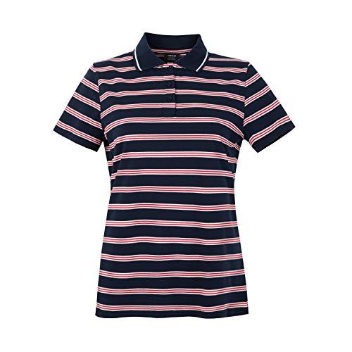 (MOHEEN Women's Golf Sleeveless Polo Shirts Quick Dry UPF 50+ Navy XL)