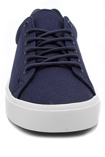 London Fog Mens Bayswater Canvas Sneaker Blu Scuro