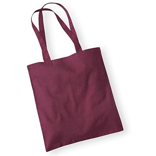 Westford Mill Baumwolltasche - Bolso de tela para mujer granate