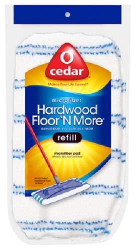 O'Cedar 151198 Hardwood Floor N More Microfiber Mop Refill Bonnets - Quantity 12