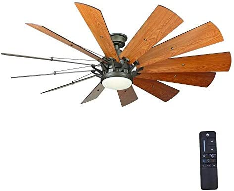 Home Decorators Collection Trudeau 60 in. LED Espresso Bronze Ceiling Fan