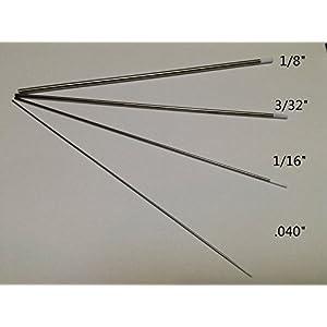 8 PCS,1/8″,3/32″,1/16″,.040″7″,White WZ8, 0.8% Zirconiated Tungsten Electrodes (ETA:7-12 WORK DAYS)