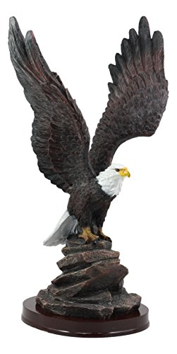 - Ebros Gift American Pride National Emblem Bald Eagle Taking Flight Statue 14.5