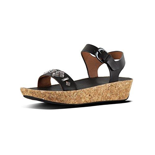 Sandals Noir Black Cheville Strap Back 001 II Bon FitFlop TM Bride Femme wfqXOFXn