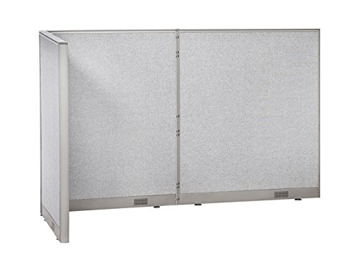 (GOF Freestanding L Shaped Office Partition, Large Fabric Room Divider Panel, 36