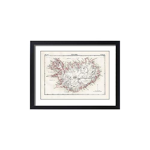 Media Storehouse Framed 24x18 Print of Iceland map 1881 (13611535) by Media Storehouse (Image #3)