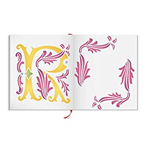 """Initial R Stencil (size 6.5""""w x 8.8""""h) Reusable Stencils for Painting - Best Quality Letter Wall Art Décor Ideas - Use on Walls, Floors, Fabrics, Glass, Wood, Cards, and More…"""