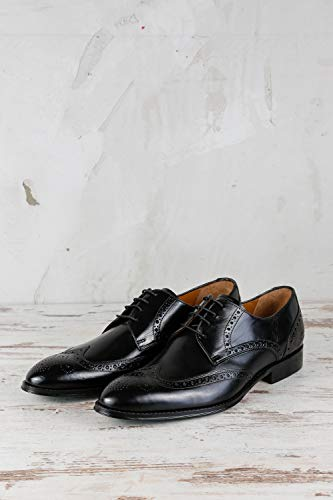 amp; MELVIN Uomo CLASS MH16 Scarpe Nero MADE Stringate Nero MH HAND 174 OF HAMILTON SHOES rrRFdq