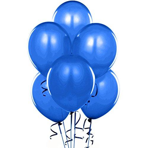 - 24 Inch Sapphire Blue Latex Balloons (Premium Helium Quality) Pkg of 10