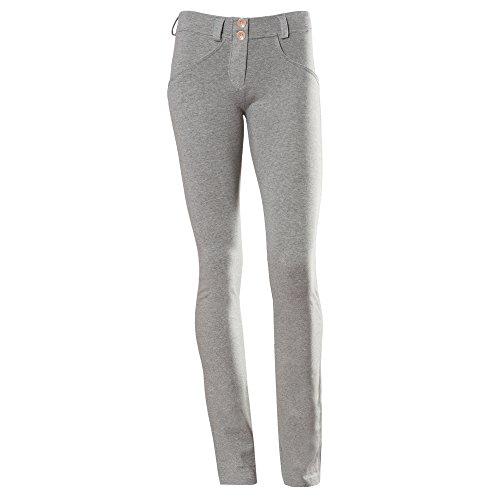 bassa a UP FREDDY da donna modellante Pantaloni dritti vita grigio effetto WR x8x7Yqw6C