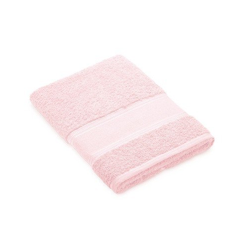 Toalla ducha rosa pastel para bordar a punto de cruz