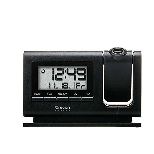 (Oregon Scientific RM308PA Classic Projection Clock with Atomic Time Calendar Date - Black)