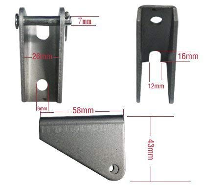 ECO-WORTHY 2pcs Heavy Duty Steel Mounting Brackets for Linear Actuator with Bolts /& Pins