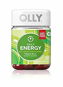 OLLY Daily Energy, Caffeine Free Energy Gummy Supplements, Tropical Passion, 60 Count