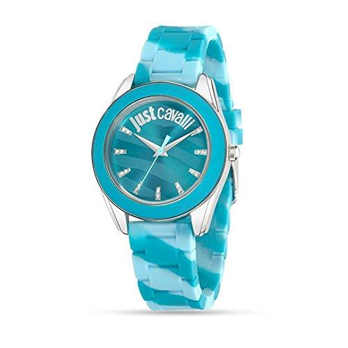 Just Cavalli R7251602502 - Reloj con correa de plástico, para mujer, color azul
