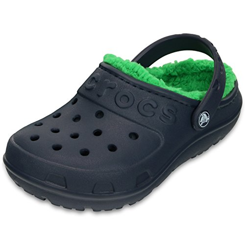 Crocs scarpe bambini Crocs Hilo rivestiti Clog Kids Navy Verde erba