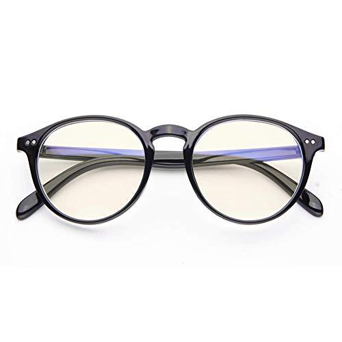 Blue Light Blocking Glasses Vintage Round Frame Eyeglasses for Women Men Black -