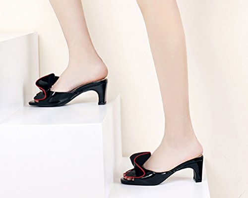 HiTime Noir Mules Femme HiTime Mules dwOvd