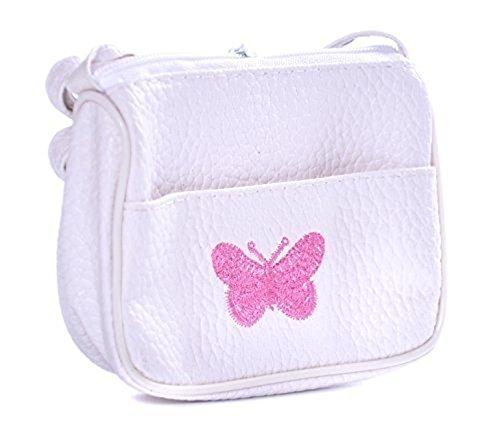 papillon brodé main porte blanche petit mini Enfants monnaie le sac avec à wOtBv