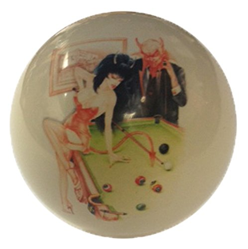 Ball Set Billiard Devils - Devil Girl Playing Pool Cue Ball Custom for Pool Players by D&L Billiards