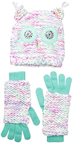Owl Gloves (ABG Accessories Big Girls Chunky Knit Owl Hat and Glove Set, Multi, One Size)