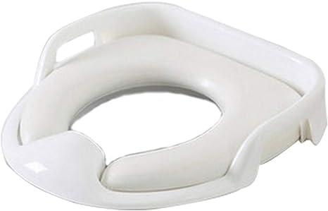 Asiento de Inodoro,Tapa WC Plegable para Ni/ños,Asiento Reductor para beb/é,Toilet Trainer Seat port/átil adecuado para mayor/ía de TamAnos de inodoro Blanco