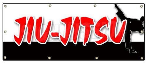 "36""x96"" JIU-Jitsu Banner Sign Martial Art Karate self Defense School Brazilian"