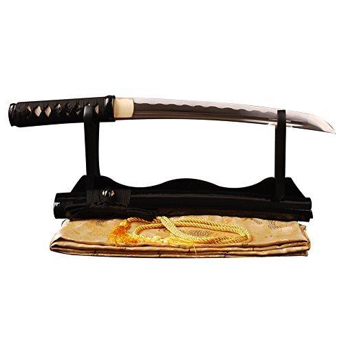 Shijian Carbon Steel Handmade Samurai Tanto Sword Japanese Full Tang Sharp Edge Knife