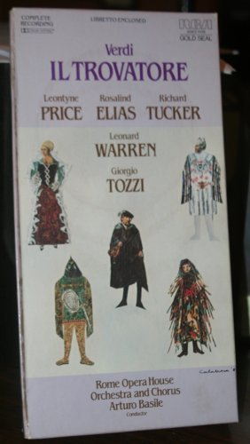 Gold Seal Rca - Il Trovatore - Price Elias Tucker Warren Tozzi Basile CASSETTE