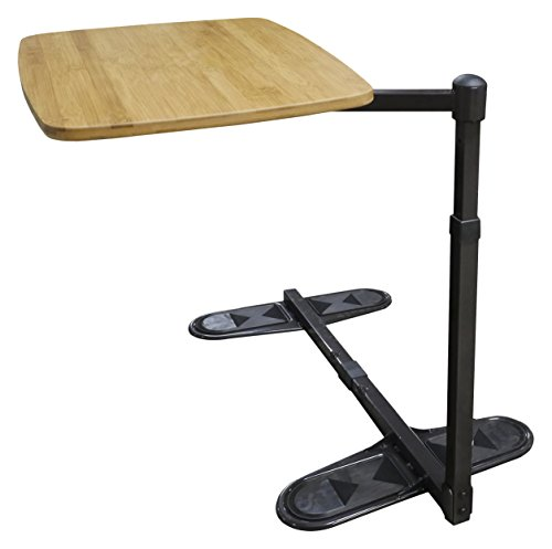 Able Life Universal Swivel TV Tray Table - Oversized Rotating Bamboo Side Table + Laptop Stand & Elderly Dinner Tray