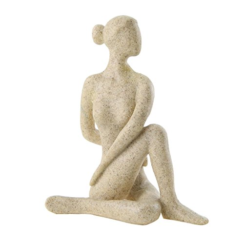Winterworm Handcrafted Yoga Girl Statue Woman Sculpture, used for sale  Delivered anywhere in Canada