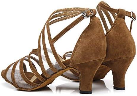 HIPPOSEUS Chaussures de Danse de Salon en Latin pour Femmes c/él/ébration de Mariage Chaussures /à Talons Hauts