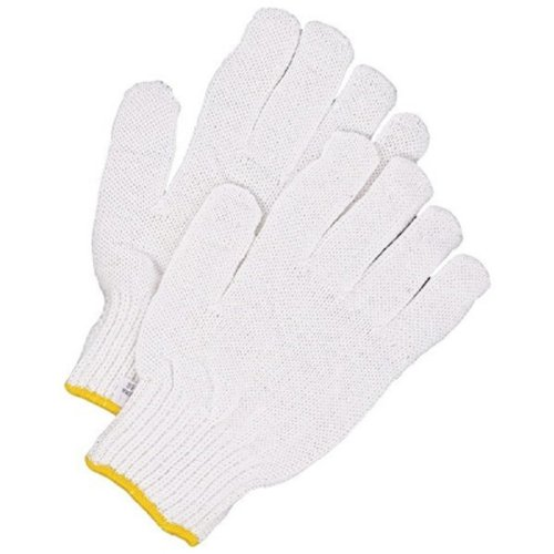 White Medium Bob Dale 10-9-77-MT Poly//Cotton String Knit Glove Pack of 12