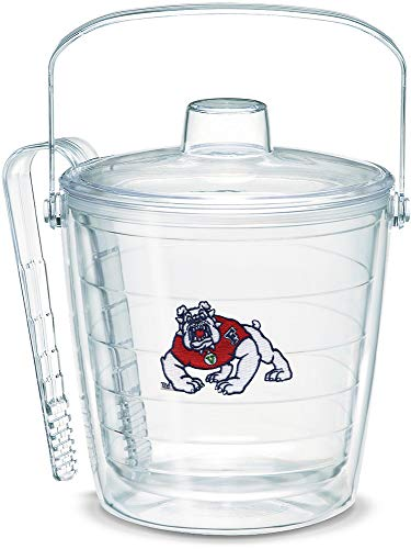 (Tervis 1053359 Fresno State Bulldogs Logo Ice Bucket with Emblem and Clear Lid 87oz Ice Bucket, Clear)
