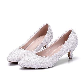 Qingchunhuangtang@ Perle Blume Braut Schuhe High Heel feine Heel Schuh Kleidung Schuhe Hochzeit Schuhe