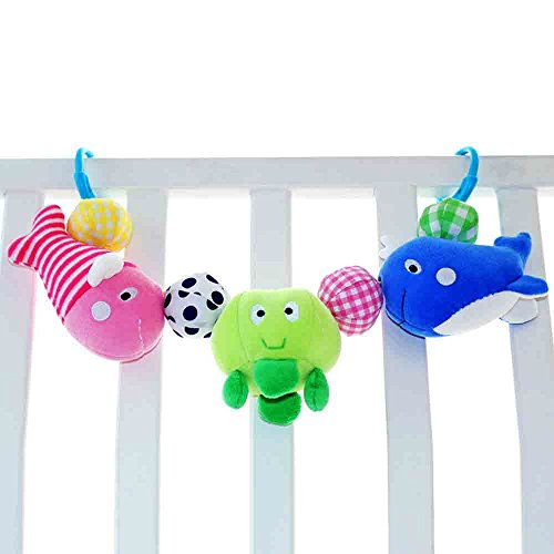SHILOH Baby Stroller Crib Toy Infant Development Soft Handbells Rattles Handle Interactive Playing, Sea world