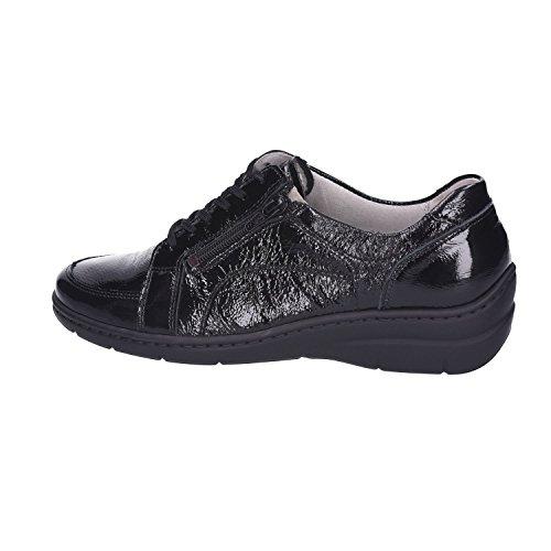 Negro Zapatos Cordones De Waldläufer Mujer Para TPvXnHq