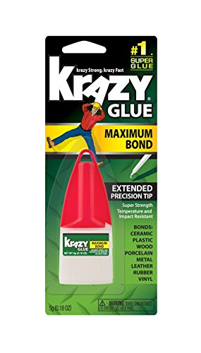 Elmers Advanced Formula Krazy Glue (Krazy Glue KG48348MR Krazy® Glue Mini Advanced Precision Applicator)