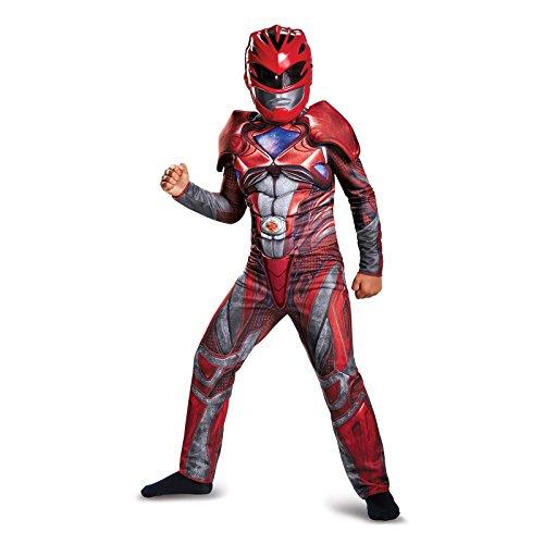 Power Ranger Movie Classic Muscle Costume, Red, Medium (Red Power Ranger Costume)